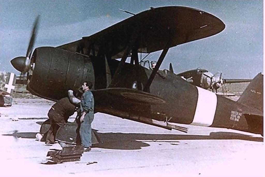 A Fiat CR.42 Falco in 1941 for regia aeronautica oob article.