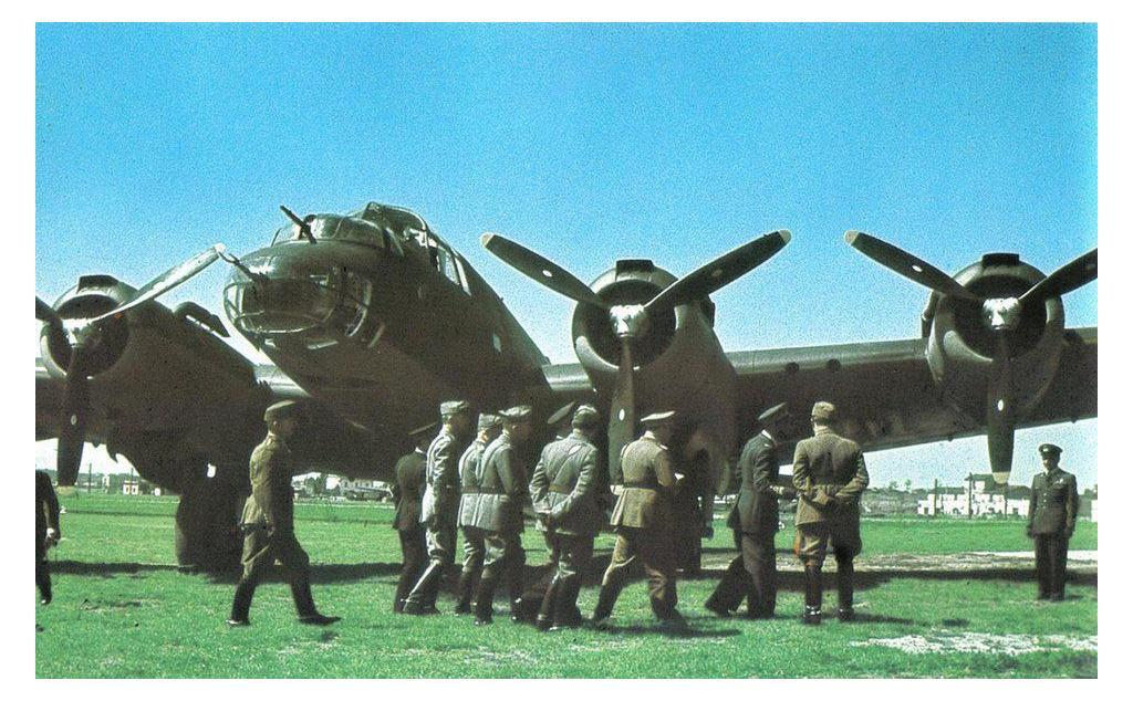 A color photograph of the P108 Heavy Bomber.