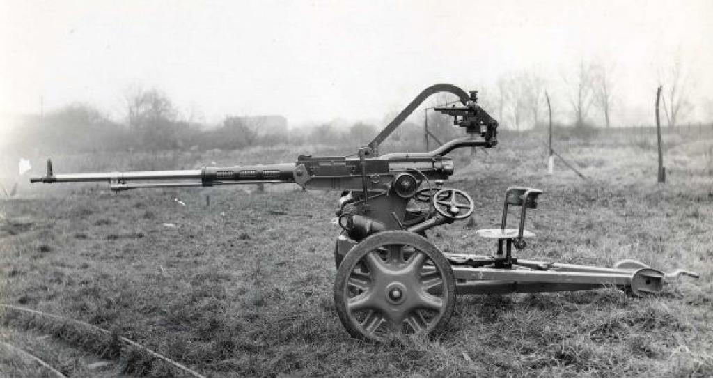 The Scotti on a two-wheel carriage.