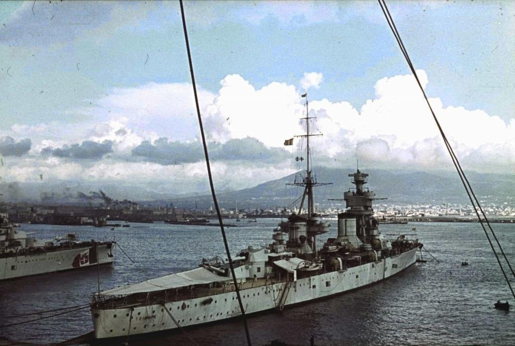 regia marina oob. The Trieste moored in Naples, Italy.