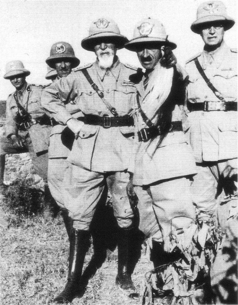 General De Bono at the beginning of the invasion of Ethiopia in 1935.