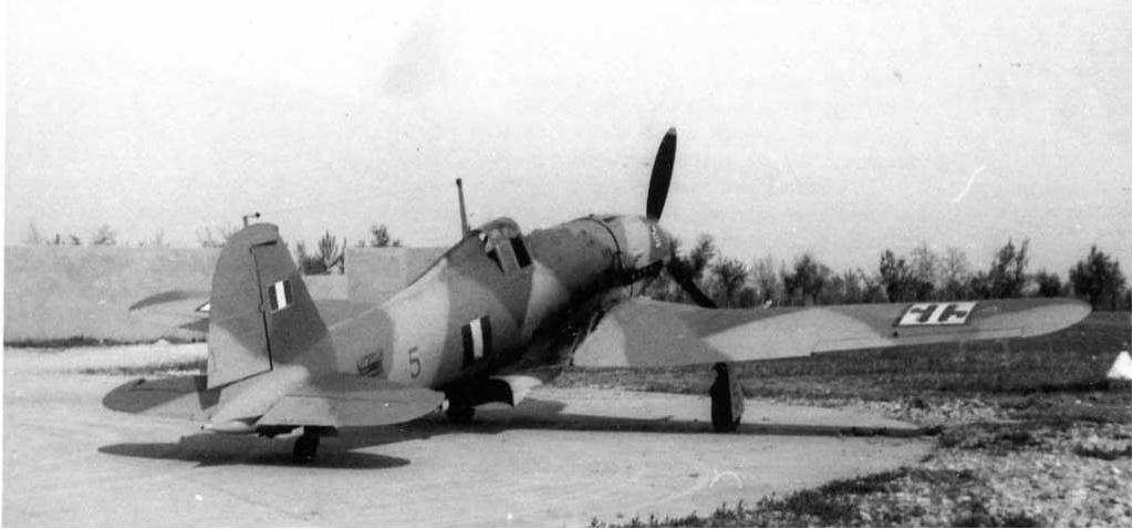 A rear view of the Fiat G.55 Centauro.