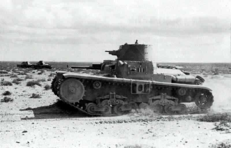 The M11/39 in North Africa.