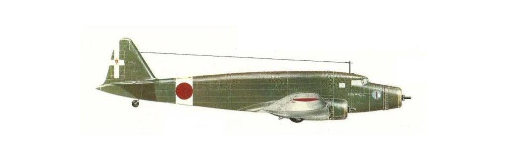 A diagram of the Sm.75 with Japanese markings