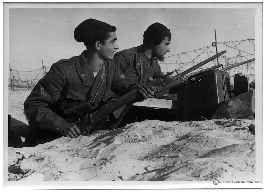 Giovanni Fascisti (GGFF) in North Africa. The photo appears to be taken in the winter.