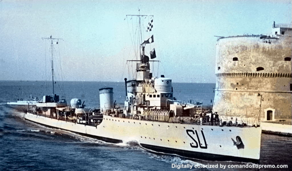 A colorized photo of Nazario Sauro on 1 January 1934.