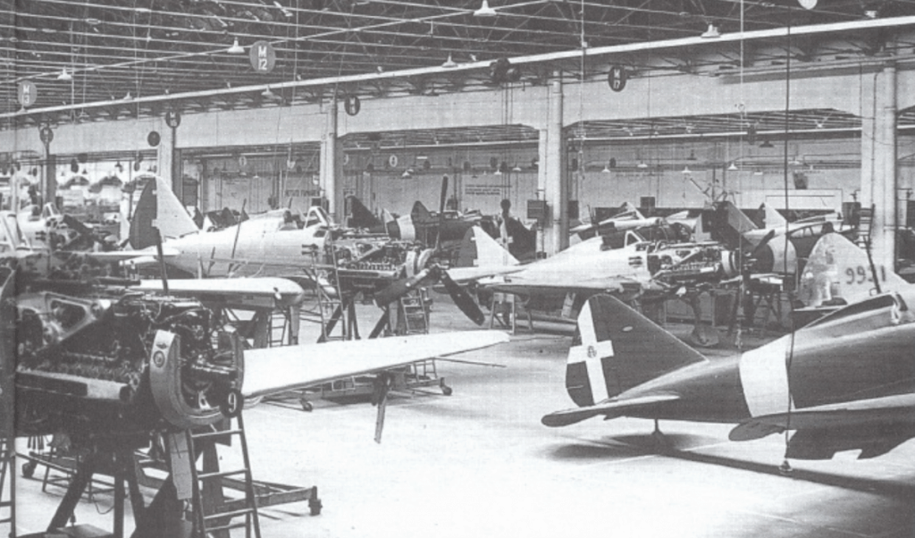 Re.2001's in production at the Regio Emilia factory.