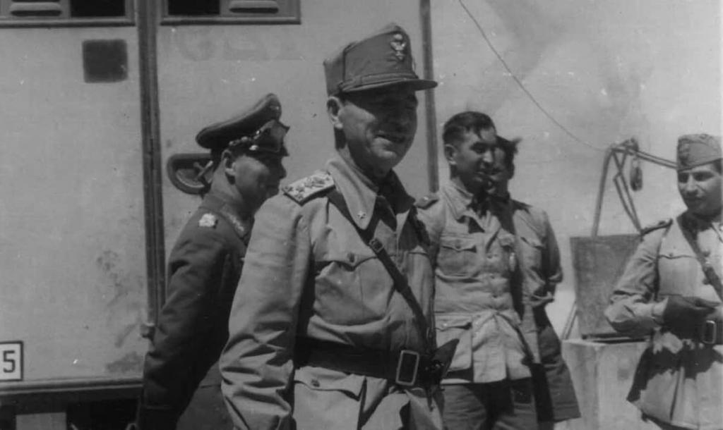 General Ettore Bastico with Erwin Rommel in the spring of 1942. Image credit: Centro Archivio dello Stato.