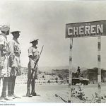 Keren was known as Cheren to Italians. Here is a sign post on the road with the Indian Army.