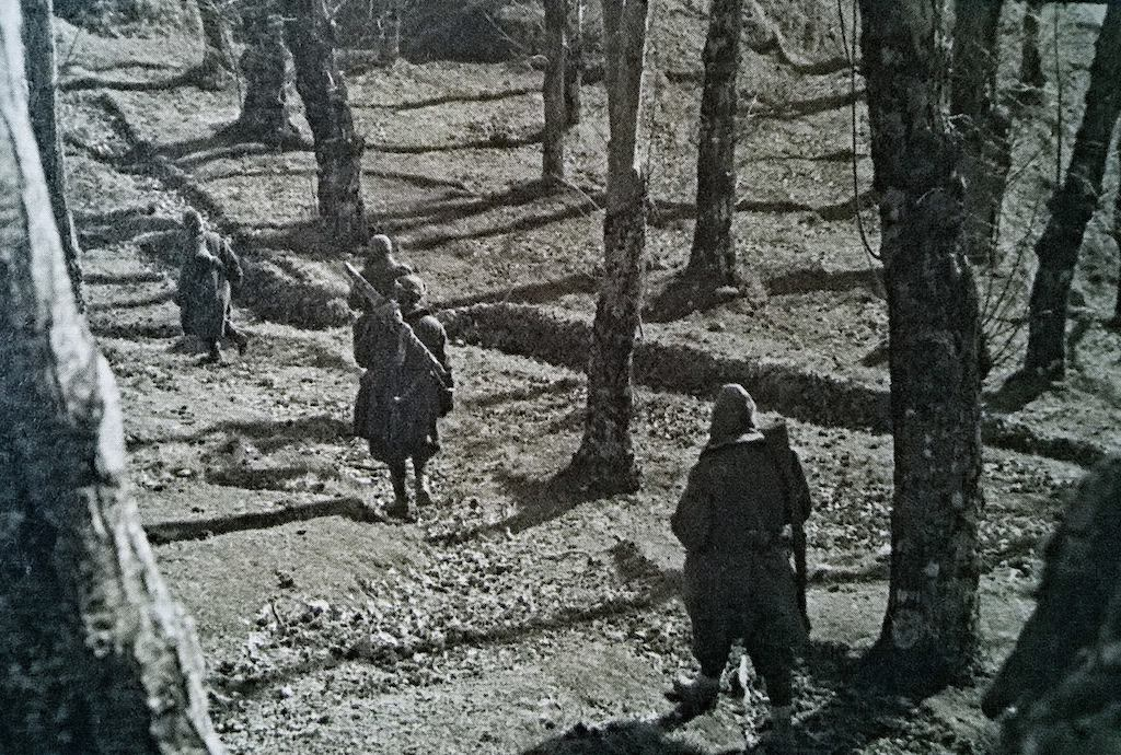 Monterosa Division on patrol on the Garfagnana Front.