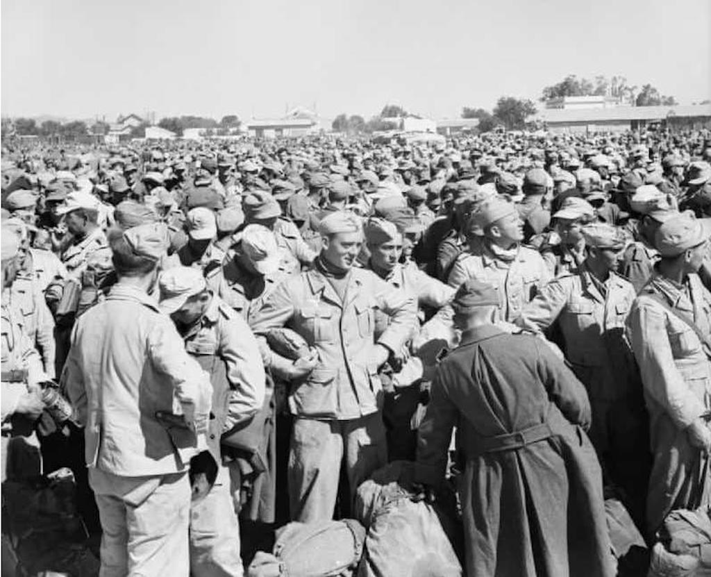 German and Italian prisoners after the fall of Tunis in 1943.