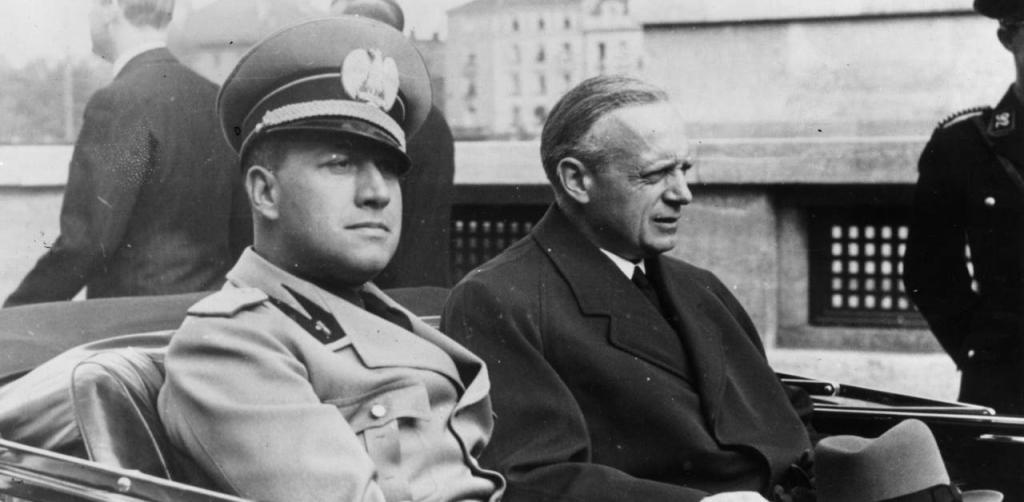 A 1938 photograph of Foreign Ministers Ciano and Ribbentrop.