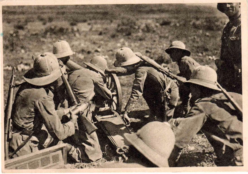 A 1936 photo of Italian forces during the invasion of Abyssinia.