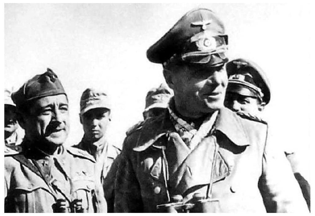 Rommel and Marshal Ettore Bastico in 1941.