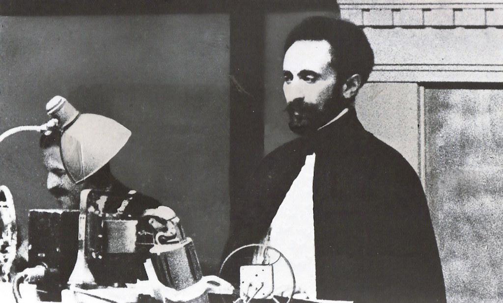 Haile Selassie addressing the League of Nations in Geneva, 1936.