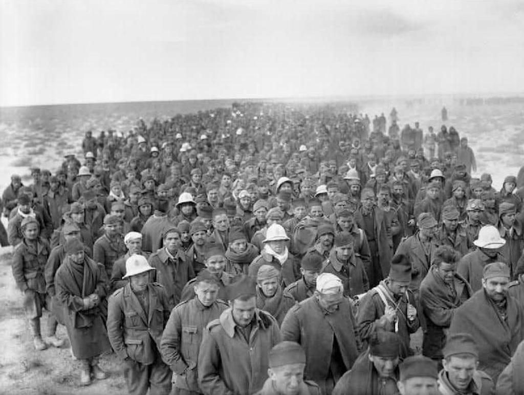 Italian Prisoners of War in Libya, 1941.