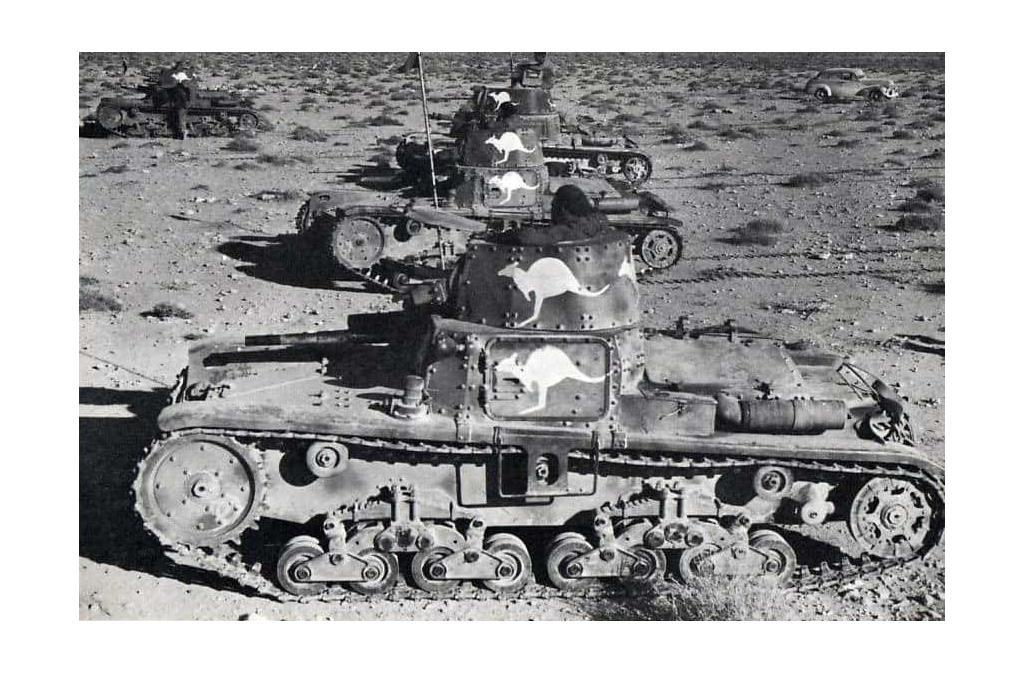 M11-39 tanks seized by Australian forces. Notice the Kangaroo painted on the tank.