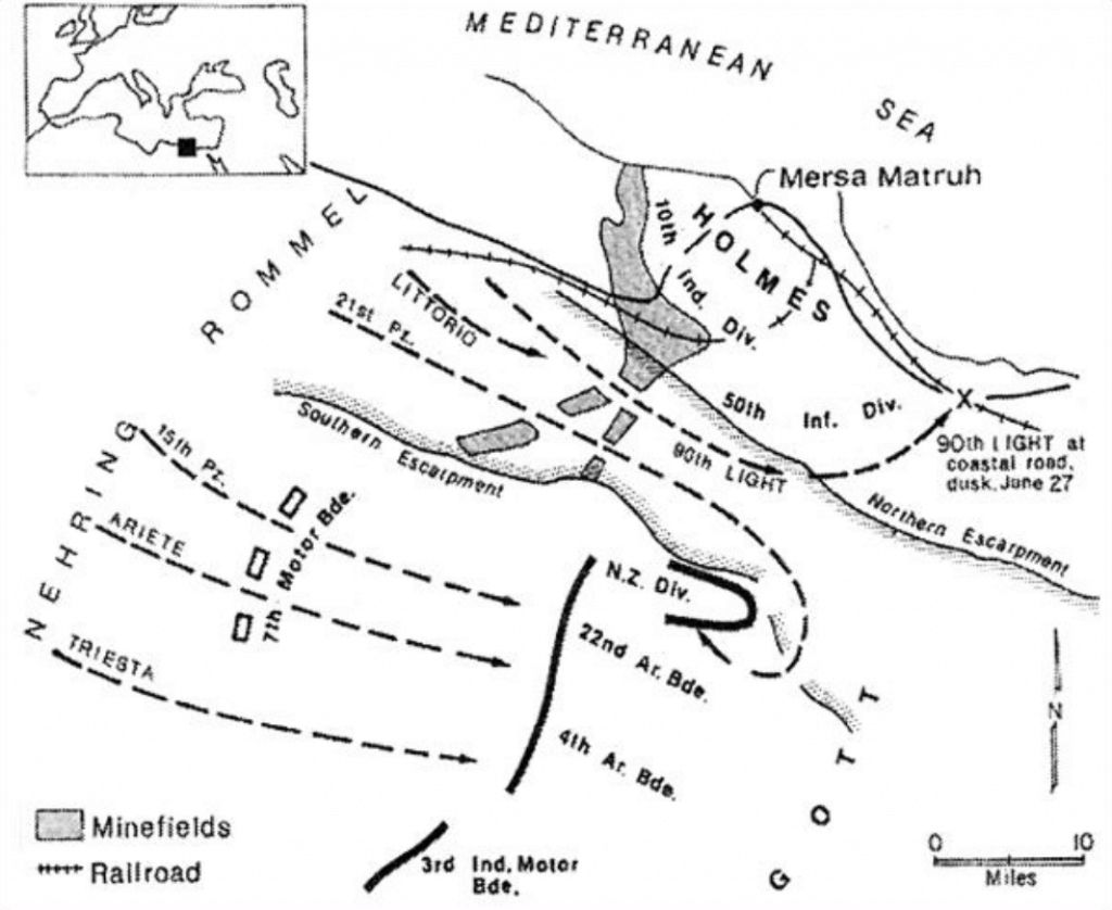Battle of Mersa Matruh map.