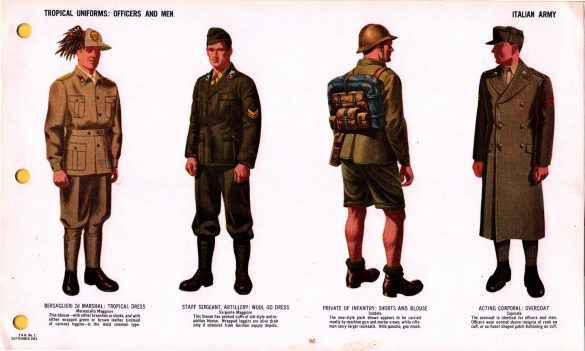 Tropical Uniforms Officers and Men