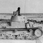 An M 13/40 in North Africa. Notice the sand bags in the font being used for additional armor protection.