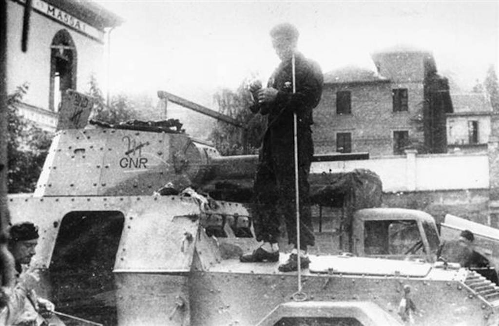 "A 1944 photo of an AS43 armored car of the Leonessa Group in Piedmont. Image: <a href=""http://www.tanks-encyclopedia.com/ww2/Italy/spa-viberti-as43"" target=""_blank"" rel=""noopener noreferrer"">Tank Encyclopedia</a>"