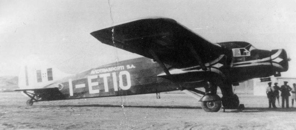 Another view of the Caproni Ca.148 I-ETIO.