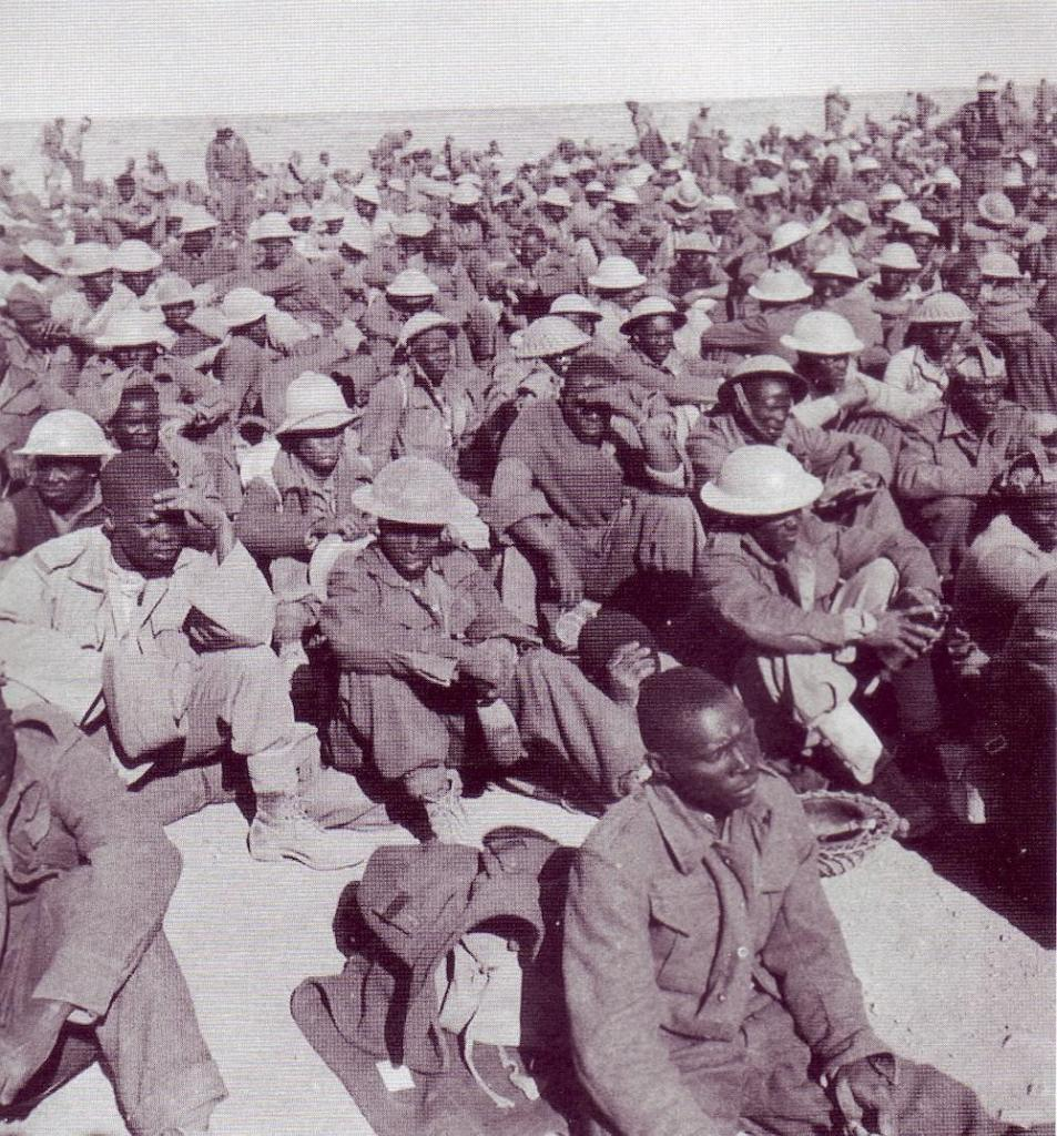 Some Commonwealth prisoners of war taken in North Africa, November, 1941.