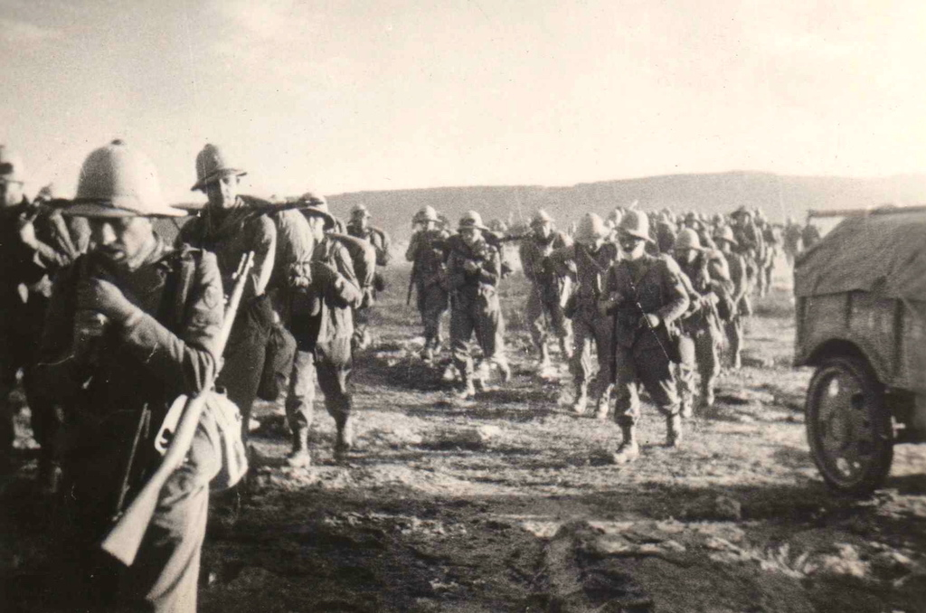 Italian troops during the invasion of Ethiopia. They were in better shape than the Italian military of 1940.
