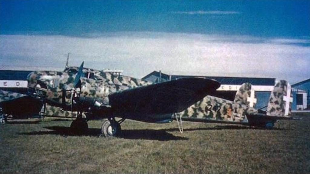 A color photograph of a BR.20 with the 242a Squadriglia assigned to the corpo aero italiano in the Battle of Britain.