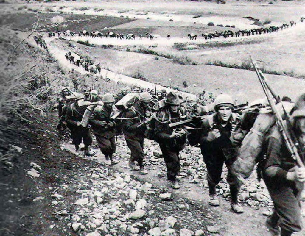 3rd Alpine Division Julia on the march in the Greco Italian War.