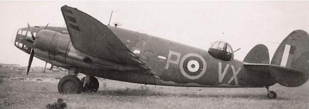 Malta was often used as a staging post between Gibraltar and Egypt. Here is a Lockheed Hudson