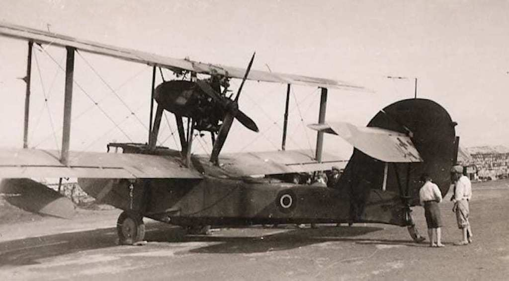 There were no fighter units on Malta before the war. Here is a Walrus scout seaplane.