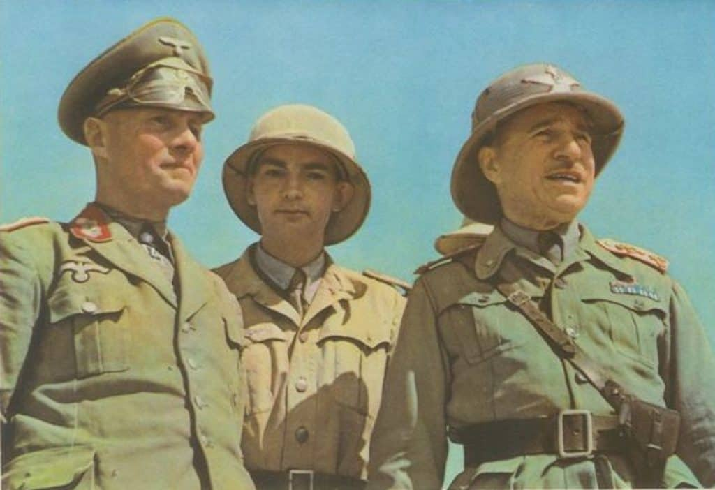 Order of battle of axis forces in libya 1941. Rommel and bastico are pictured.
