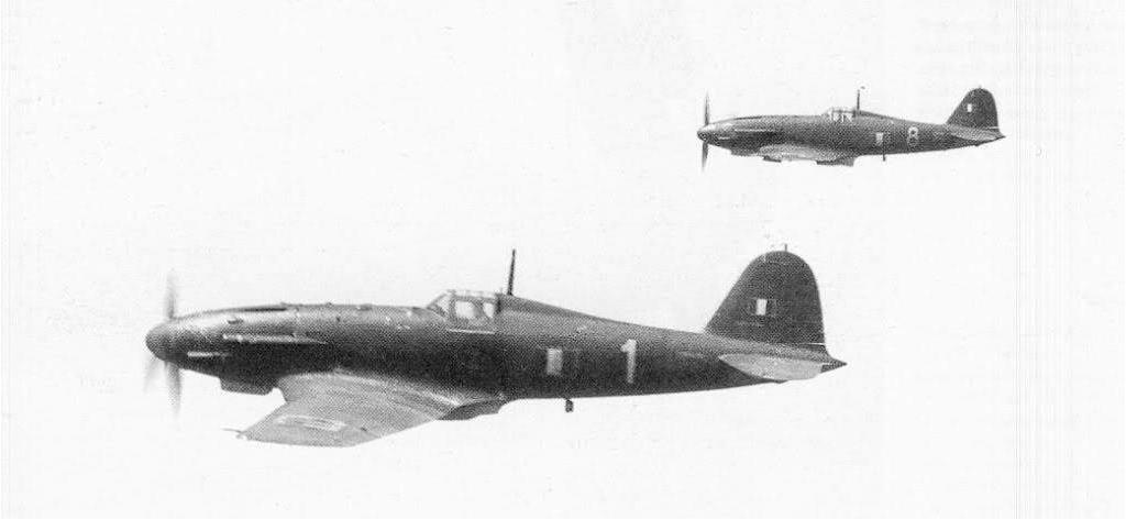 Two Fiat G55's in flight.