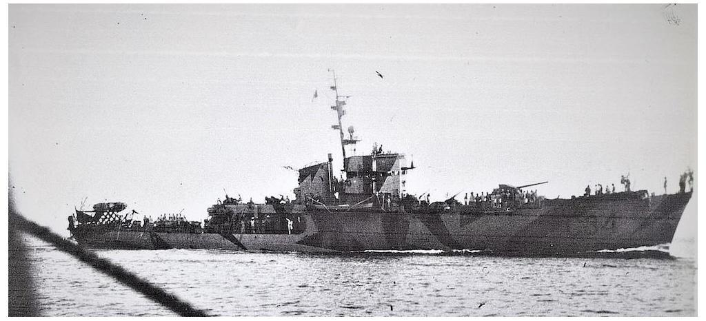 Fate of Regia Marina. Corvette Baionetta of the Gabbiano class.
