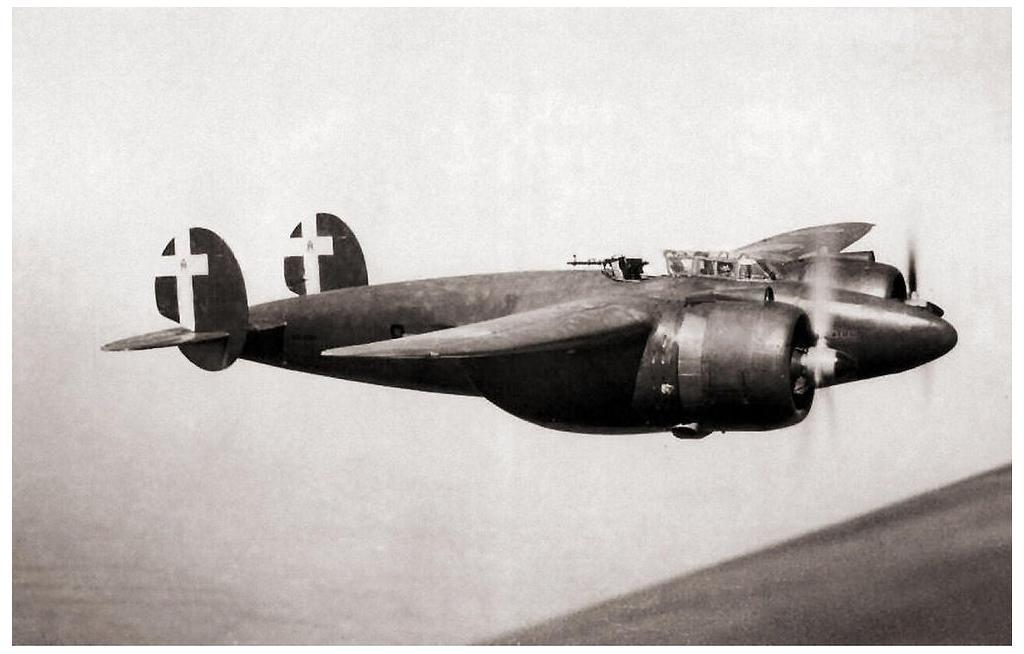 Breda Ba.88 Lince in flight.