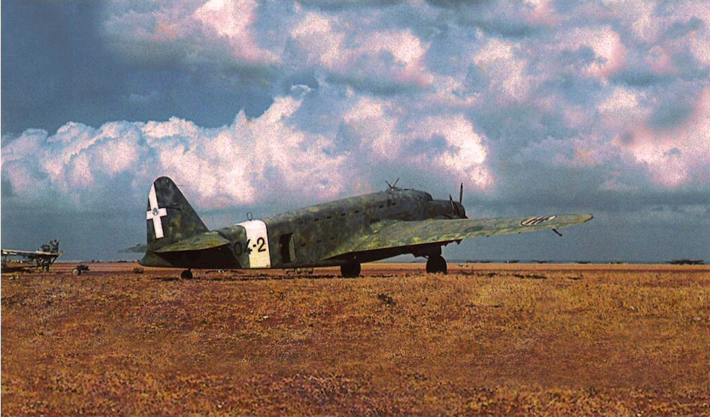 Savoia Marchetti SM. 82 Marsupiale of the 604th Transport Squadron, Libya 1941.