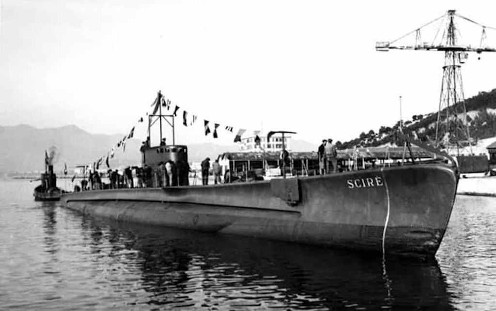 The submarine Scirè as it looked on 06 January 1938.