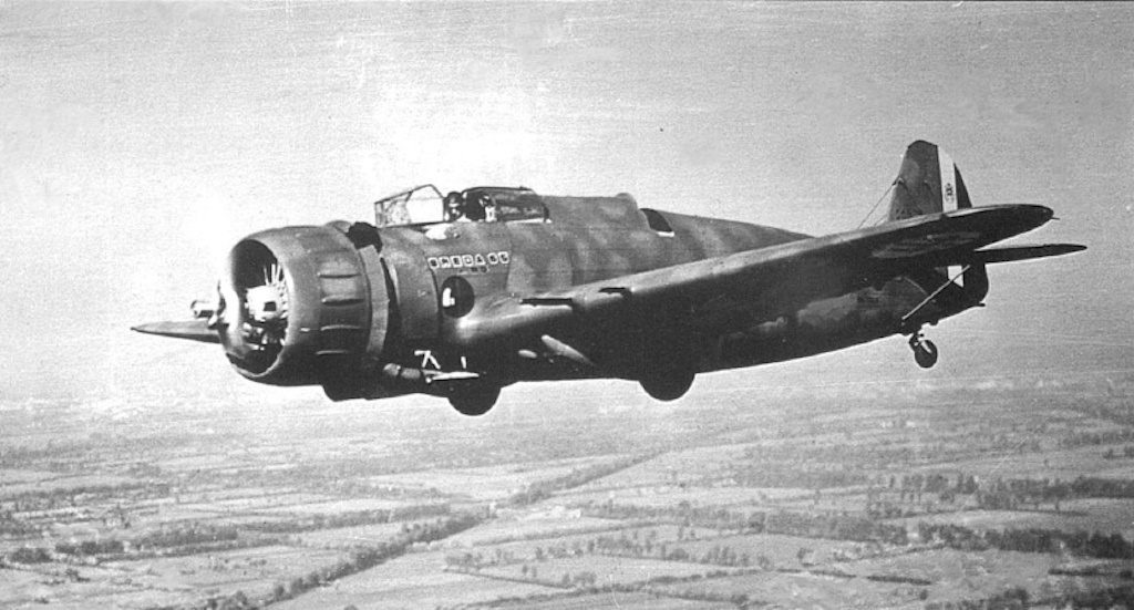 Breda Ba.65 in flight.