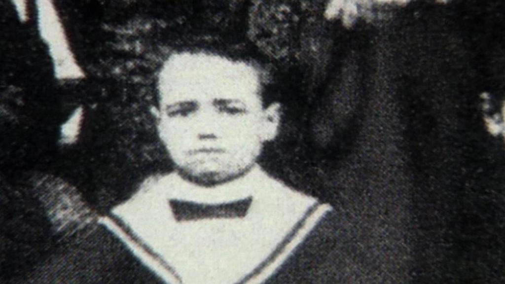 Mussolini as a child.