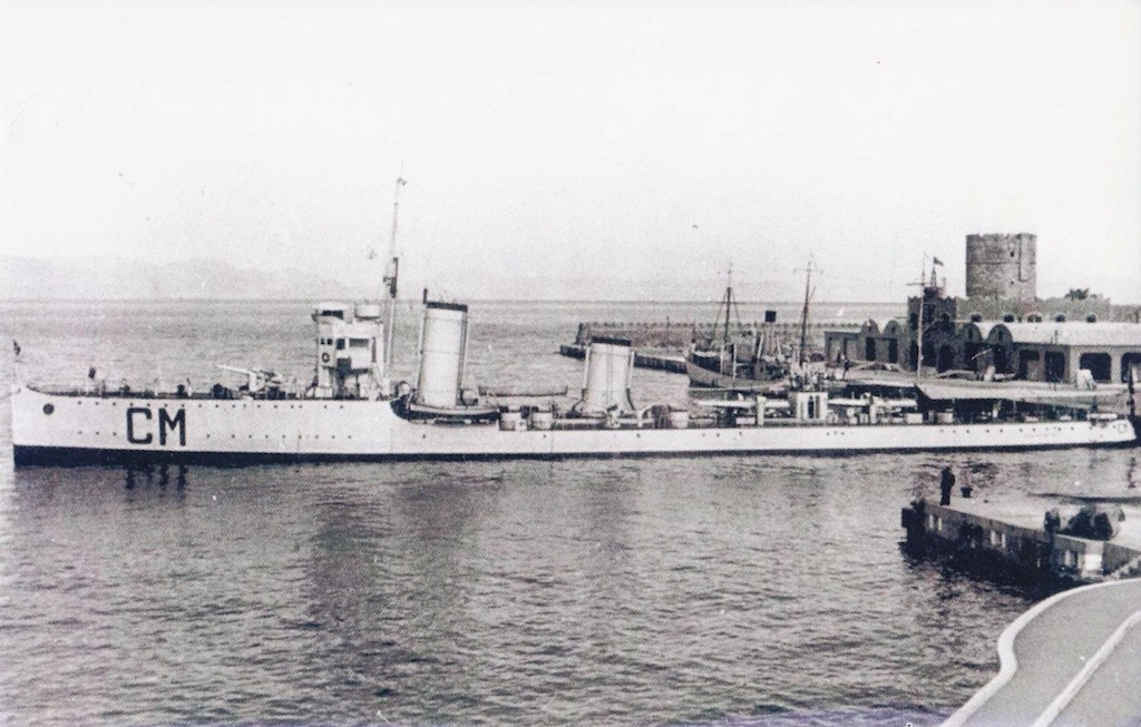 RN Calatafimi in a Greek port.