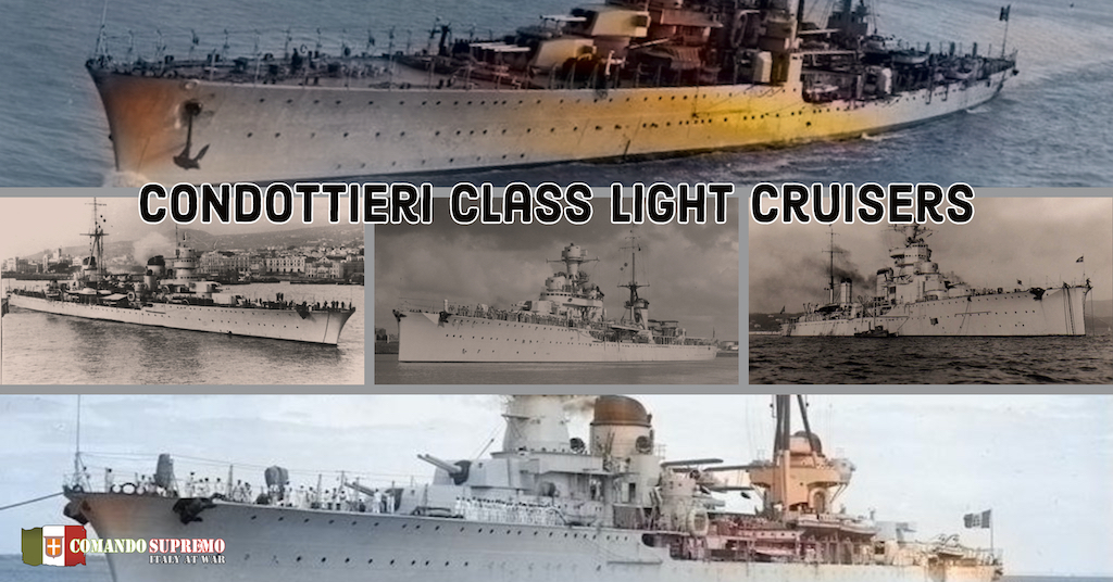 Condottieri Class light cruisers consisted of five sub classes.