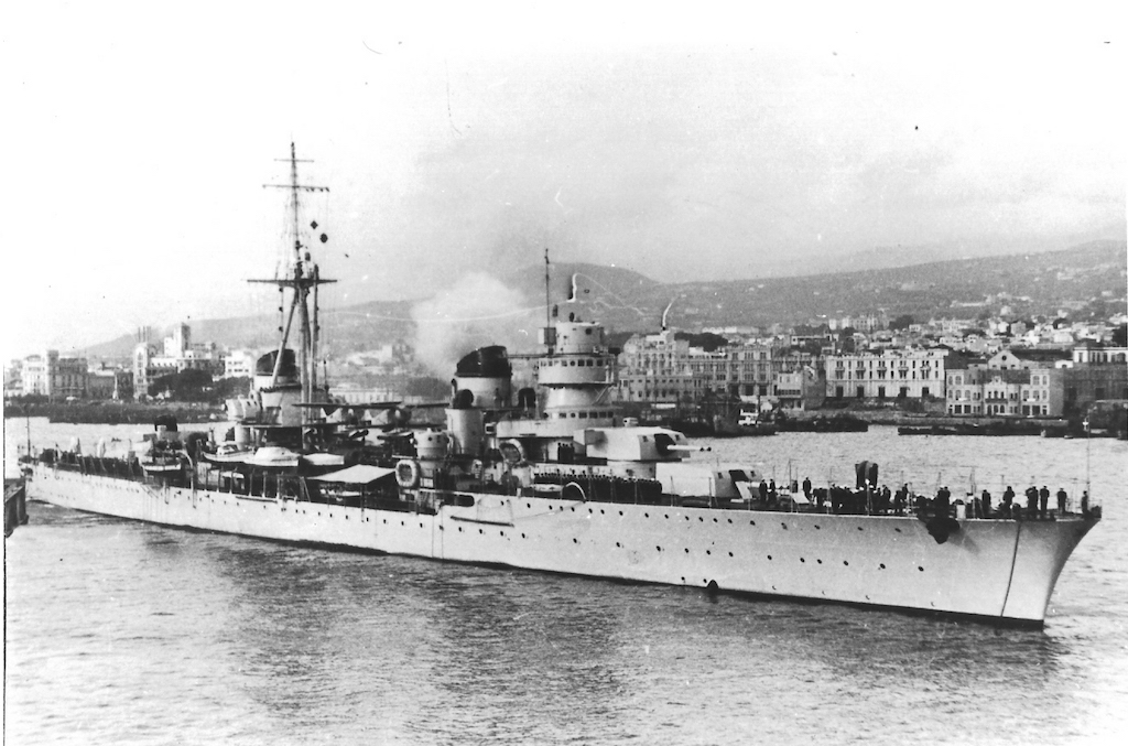 A 18 November 1938 photo of the Duca d'Aosta class Eugenio di Savoia.