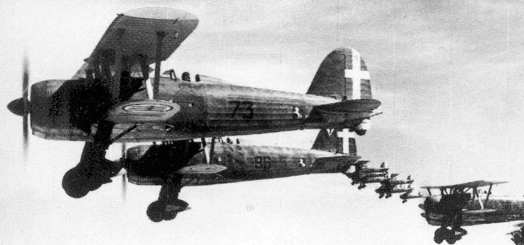 …..and the Italian workhorse, the Fiat CR.42.