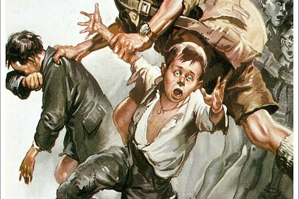 "A 1944 poster showing an Allied soldier pulling two distressed Italian children. The words ""Lavoratori d'Italia! I ""Liberatori"" gia da oggi pensano per l'avvenire dei vostri figli.."" which means ""Italian Workers! The ""Liberators"" are already thinking of what to do about the future of your children."""