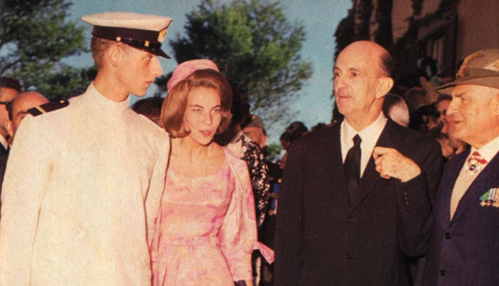King Umberto II (second from right) on 22 July 1964.
