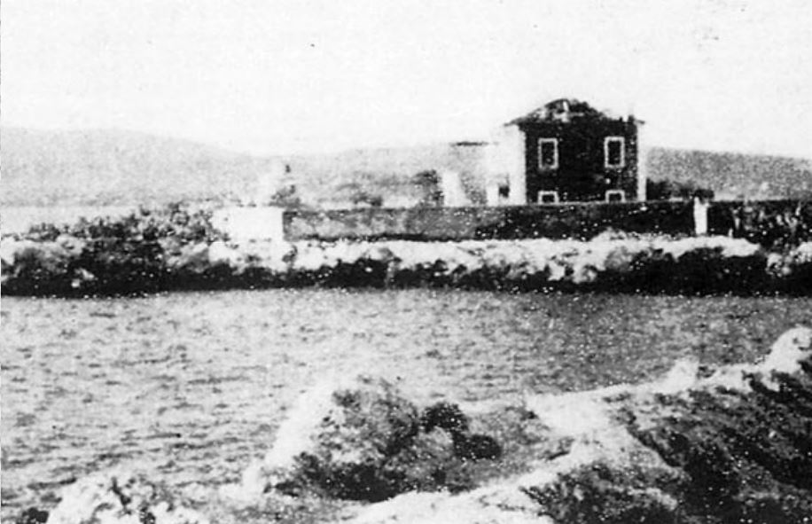 The Casetta Rossa, where General Gandin and 136 officers were killed. The Red House was destroyed in the 1953 Ionian earthquake.