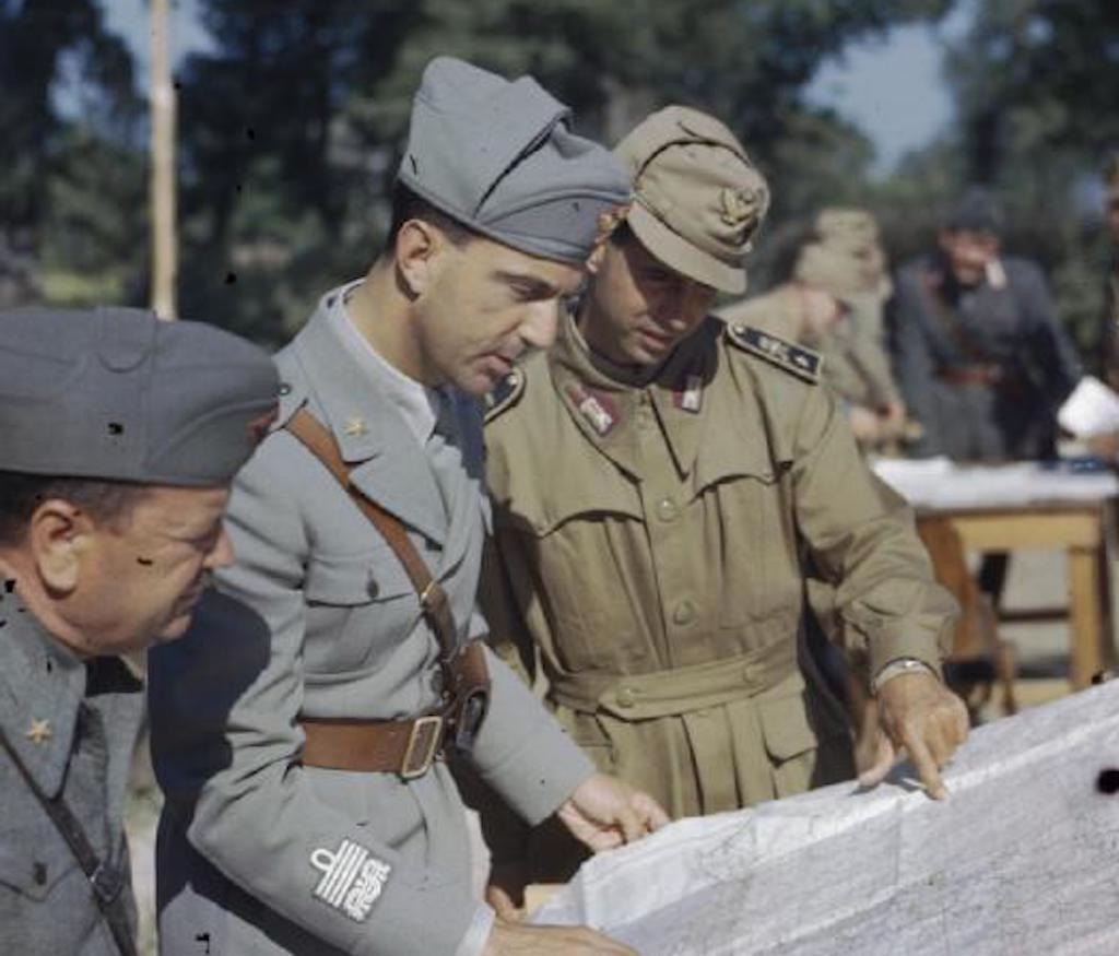 Prince Umberto in Sparanise, Italy in May 1944. Image: