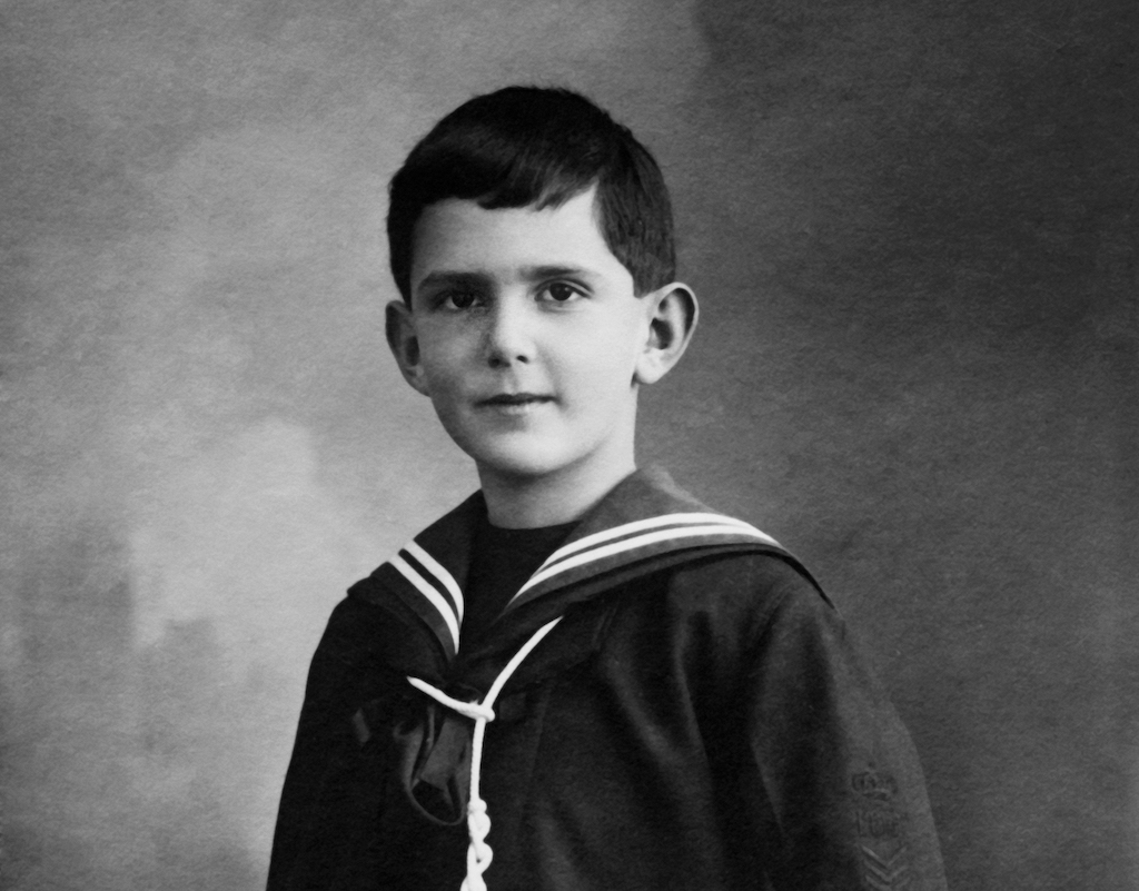 Umberto as a young child.
