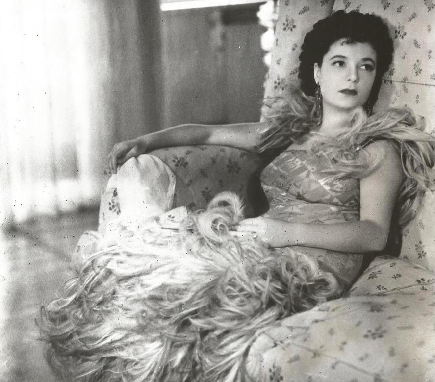 Press photo of Clara Petacci shortly before her arrest in 1943.